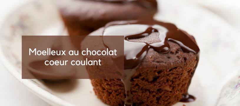 Moelleux au chocolat coeur coulant